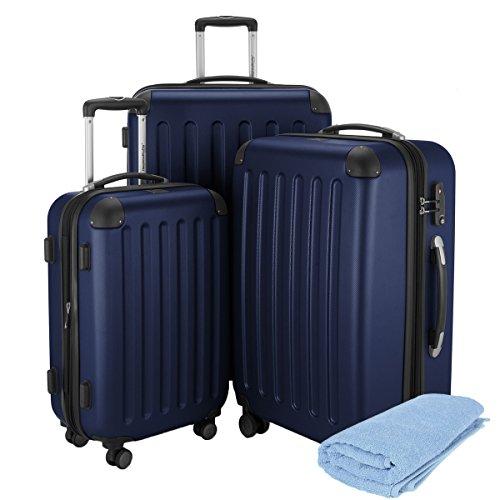 HAUPTSTADTKOFFER · Sets de bagages · (49;82;128 liters) · Serrure TSA · BLEU