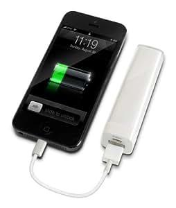 Batterie externe nomade blanc 2200 mAh - Batterie de secours - Powerbank - Chargeur universel - Batterie Iphone - Power bank