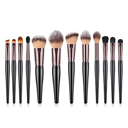 Pinceaux Maquillage Kit de 12pcs Brosse de Maquillage Professionnel Fondation Concealer Eye Shadow Beauté Outils 24 * 15 * 1.6cm