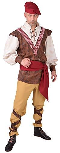 Kostüm Bauer Für Erwachsene - narrenkiste M218226-M Herren Bauer-Knecht Mittelalter Kostüm Gr.M
