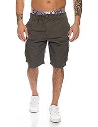 Herren Cargo Shorts mit Dehnbund - mehrere Farben ID226