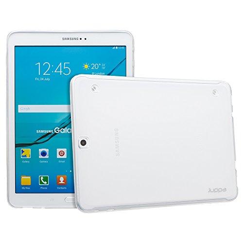 Galaxy Lcd-samsung S2 (Juppa® Samsung Galaxy Tab S2 9,7 Zoll SM-T810 T815 TPU Silikon Tasche Hülle Schutzhülle mit LCD displayschutzfolie und Mikro-Reinigungstuch - Klar / Clear)