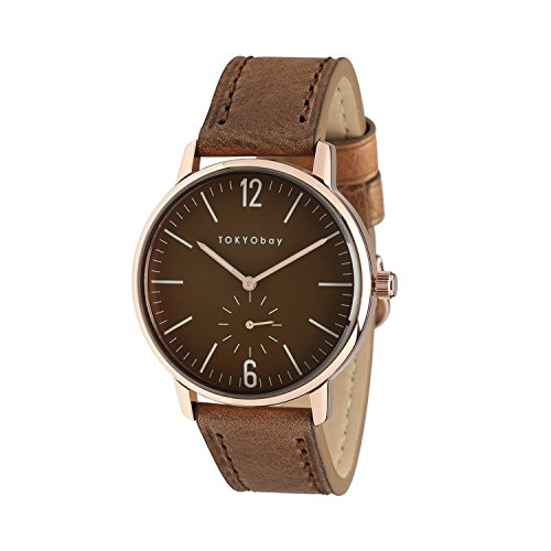 tokyobay-t337-rg-mens-stainless-steel-brown-leather-band-black-dial-smart-watch