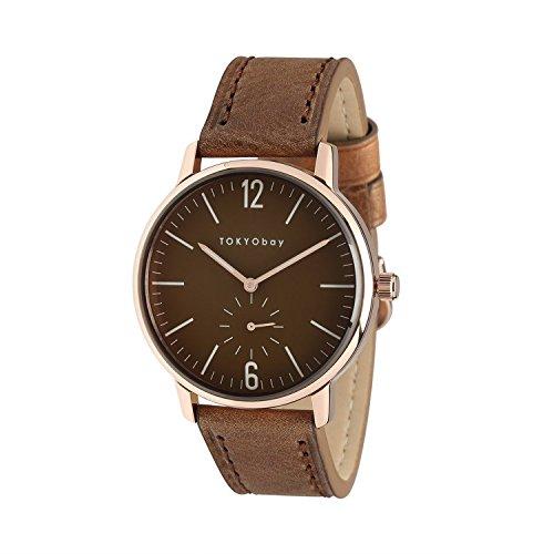 acier-inoxydable-cuir-marron-bracelet-brown-tokyobay-t337-rg-hommes-cadran