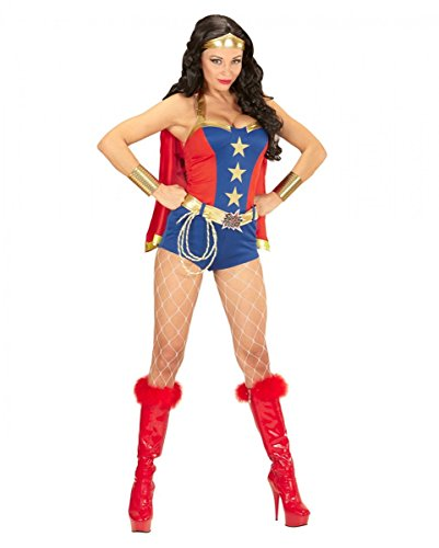 Horror-Shop Sexy Super-Girl Power-Woman Kostüm für Cosplay & Halloween S