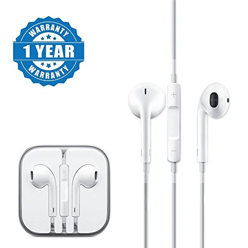 Captcha Earpod With Remote And Mic Wired Headset Compatible with Xiaomi, Lenovo, Apple, Samsung, Sony, Oppo, Gionee, Vivo Smartphones (One Year Warranty)  available at amazon for Rs.199