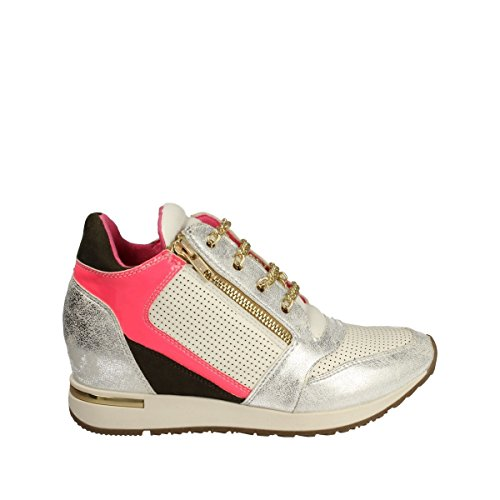 Osey - Sneaker zeppa argento fuxia - 38, Argento