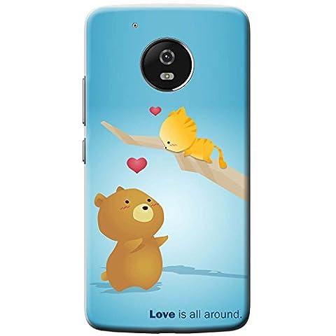 Bär wartet darauf Kätzchen in Baum zu fangen Hartschalenhülle Telefonhülle zum Aufstecken für Motorola Moto G5