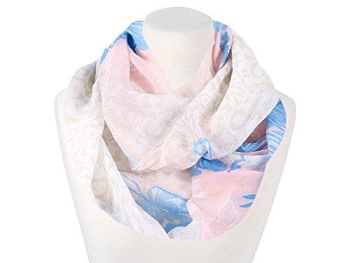 damen-loop-halstuch-mit-bluten-weiss-blau-rosa-pastellfarben-neu-fashionbox24h-e161