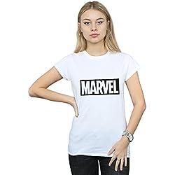 Marvel Mujer Logo Outline Camiseta Blanco Small