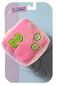 Gipsy - Cubo Bulle, sonajero de 14 cm, color rosa (070185)