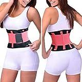 sensadore Neoprene Sports Waist Belt Magnetic Belt for Back Pain Orthopedic Posture Corrector Correction Brace Back Lumbar Support Belt - Size: M & Color: Pink