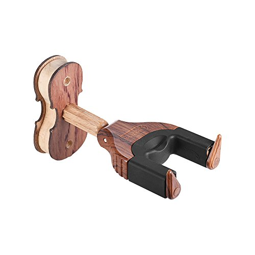 Kalaok Wandhalterung Violine Geige Viola Aufhänger Haken Halter Keeper Auto Grip System Gummikissen Holz Basis