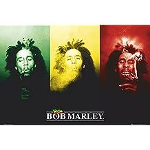 GB eye LTD, Bob Marley, Flag, Maxi Poster, 61 x 91,5 cm
