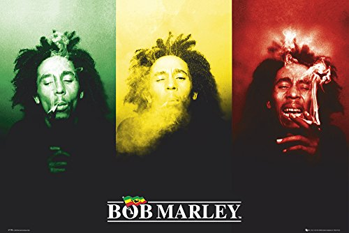 GB eye LTD, Bob Marley, Flag, Maxi Poster, 61 x 91,5 cm