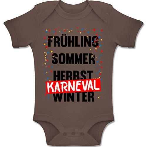 Shirtracer Karneval und Fasching Baby - Frühling, Sommer, Herbst, Karneval, Winter - Karneval Kostüm - 12-18 Monate - Braun - BZ10 - Baby Body Kurzarm Jungen Mädchen