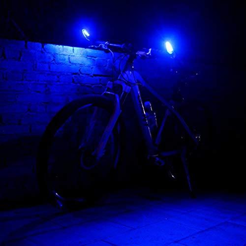 2 PC USB Wiederaufladbare Fahrradbeleuchtung Fahrradlicht Set, StVZO Zugelassen Fahrradleuchte Fahrradlampe Fahrradlichter Fahrrad MTB Lenker Grip Bar Ende mit LED-Licht Warnleuchte Glocke (Blau) -