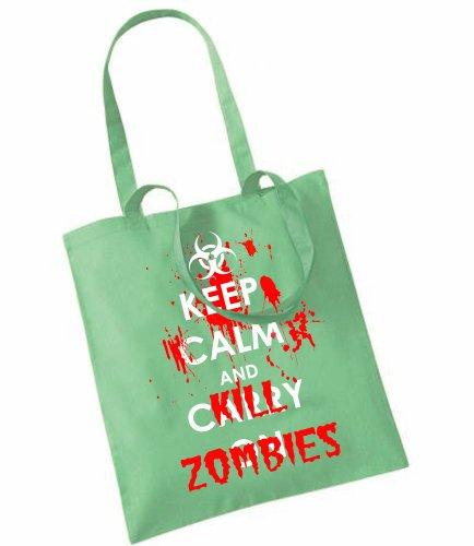 """Tasche mit Aufdruck """"Keep Calm and Kill Zombies"""
