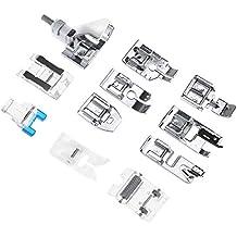 ENET Juego de 11 Piezas de Accesorios domésticos para máquina de Coser, Kit de Piezas
