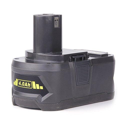 Preisvergleich Produktbild Masione Ryobi-18V 4000mAh Li-ion Ersatz Akku Batterie Akkuschrauber Zubehör Für Ryobi-P108, RYOBI BPL-1815, RYOBI ONE+ 18 Volt RYOBI 130429054, (1x Akku)