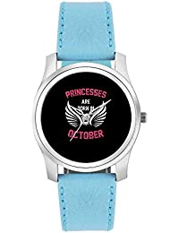 BigOwl Princesses Are Born In October | Birthday Gifts For Girls Fashion Watches For Girls - Awesome Gift For...