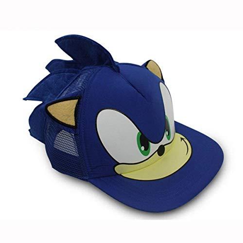NANLAI Sonic The Hedgehog Spiel Cosplay Baseballmütze Hüte mit Ohren