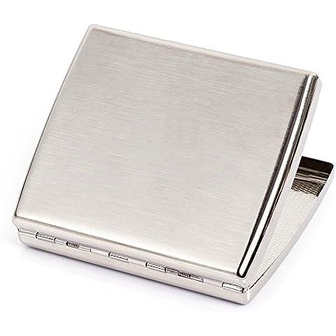 Acero inoxidable cepillado metal Soporte de Pitillera Caja para 20cigarrillos Type 2