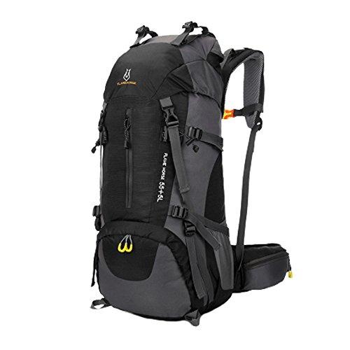 huiguizhe Outdoor Sports (60wasserdicht Wandern Rucksack Klettern Bergsteigen Tasche Travel Trekking Rucksack mit Regen Cover Schwarz