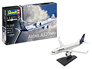 Revell- Airbus A320 Neo Lufthansa New Li, Escala 1:144 Kit de Modelos de plástico, Multicolor (03942)