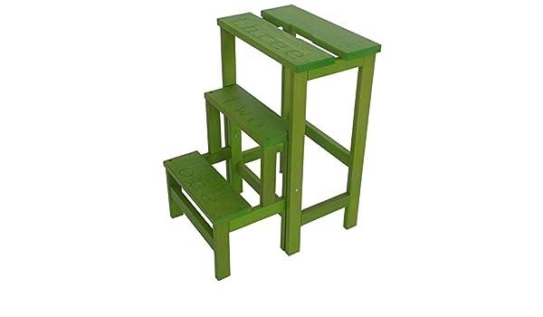 Sgabello scala happy numbers verde acido amazon casa e cucina