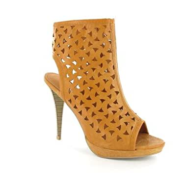 Ladies Womens Summer Sandals Shoes Boots Heel Peep Toe Lace Zip Size