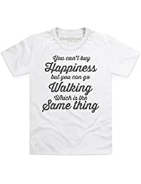 Kids Tees Walking Happiness Camiseta Infantil, para Nios