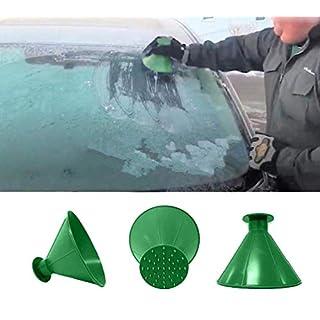 ILOVEDIY-Eiskratzer Auto Rund Fensterreinigung Eisschaber Autofenster Reiniger (Grün)