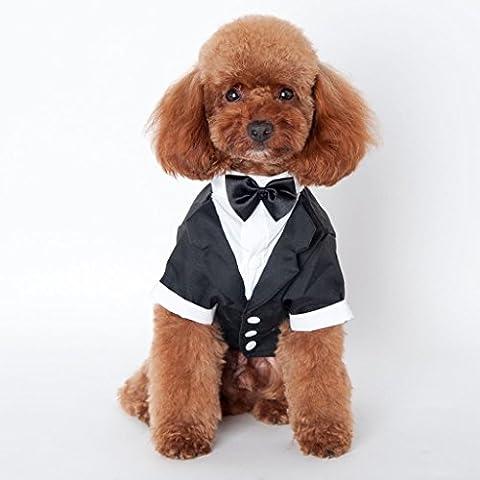 Costumes Black Tie Tuxedo - TQP-CK Noir CHIEN Costume Smoking Puppy Chien