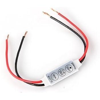 Variateur Dimmer + Contrôleur pour LED Bande Ruban Lumineuse Monochrome