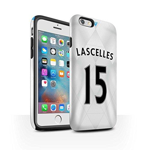 Offiziell Newcastle United FC Hülle / Glanz Harten Stoßfest Case für Apple iPhone 6+/Plus 5.5 / Sissoko Muster / NUFC Trikot Away 15/16 Kollektion Lascelles