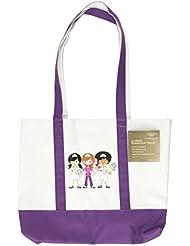 NCD Medical/Prestige Medical 705-NTG - Bolsa de tela, diseño de trío de enfermeras, color violeta