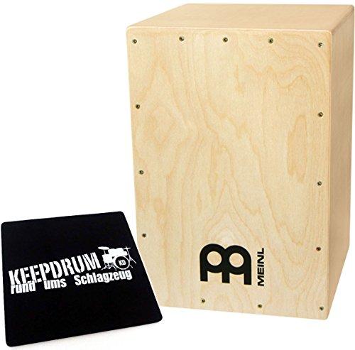 Meinl MYO-CAJ Cajon Bausatz Natur + KEEPDRUM Sitzpad CP-01
