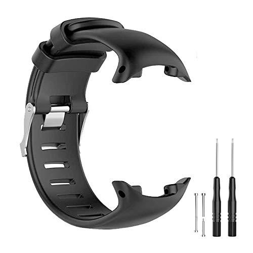 JTMM Armband für SUUNTO D4 / D4i NOVO GPS-Uhrenersatz-Uhrenarmband, Armband aus weichem Silikon Smartwatch-Armbandband mit Entnahmewerkzeugen