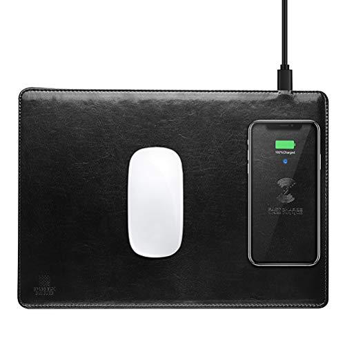 YRE Kortikale Induktion drahtfülltes Mauspad, Multifunktions-Laden-Maus-Pad, geeignet für Apple Samsung und andere drahtlose Lademobil