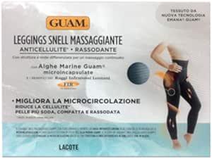GUAM - LEGGINGS SNELL MASSAGGIANTE colore NERO con Alghe Marine (L-XL (46/50))