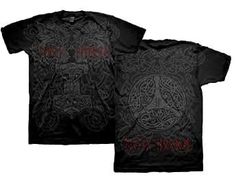 Amon Amarth - Grey Ornament (T-Shirt Schwarz)Amon Amarth Shirt F & B Print !!! (M(Medium))