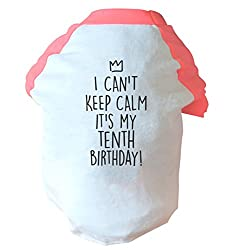 I can't keep calm It's my tenth birthday two toned dog vest pink or blue