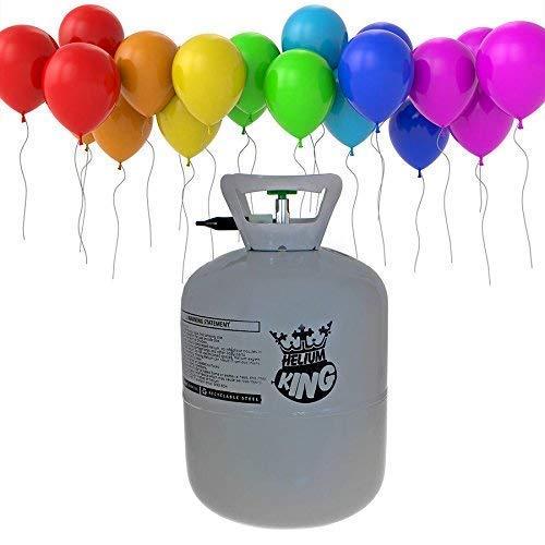 Helium Ballongas XXL 420 Liter Heliumbehälter Inclusive 50 Luftballons und 50 Ballonband ()