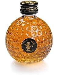Golf & More Mini-Whisky im Golfball,bester Whiskey im Golfballformat mit Golfball Schlüsselanhänger
