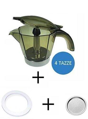 10446_ ********* caraffa 4 tazze + guarnizione + filtro alicia de longhi kit ricambio originale