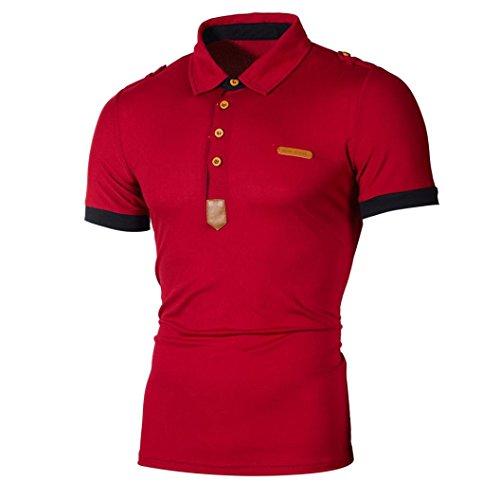 Offerte, deals, maglietta da uomo ronamick polo a maniche corte con colletto polo tinta unita blu marine 3xl