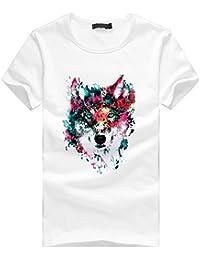 Darringls Camisetas Cortas Hombre,Manga Corta Camisetas Verano Cuadros Impresión T Shirt Blusas Camisas Tops Personalidad…