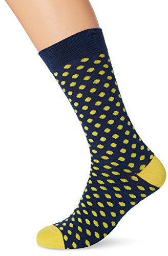 lemonade-attack-lemon-office-calcetines-para-hombre-marino-amarillo-talla-unica