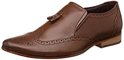 egoss Mens Tan Leather Formal Shoes - 8 UK/India (42 EU)